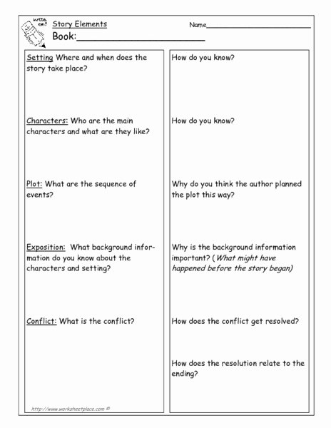 Elements Of Fiction Worksheet Beautiful From Ce Upon A Time to Denouement Collection