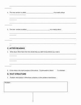 Elements Of Fiction Worksheet Inspirational Identifying Non Fiction Elements Worksheet by Lisa Lake