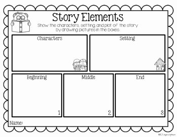 Elements Of Fiction Worksheet Inspirational Story Elements Kindergarten by Inspired by Kinder