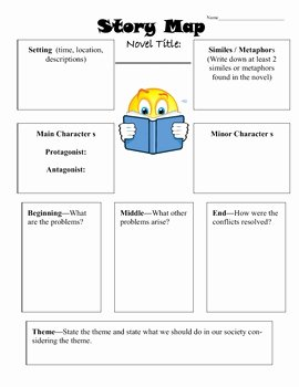 Elements Of Fiction Worksheet New Story Elements Worksheet by Beverly Brown