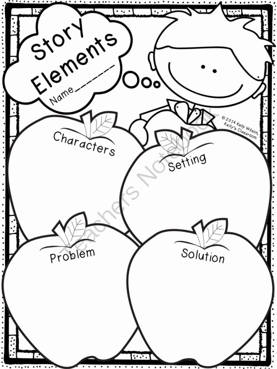 Elements Of Fiction Worksheet Unique Story Elements Graphic organizer Apples Ela Language