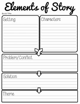 Elements Of Fiction Worksheet Unique Story Elements Setting Characters Plot theme by
