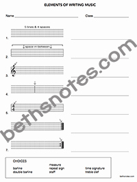 Elements Of Music Worksheet Awesome Elements Of Music Notation Beth S Notes
