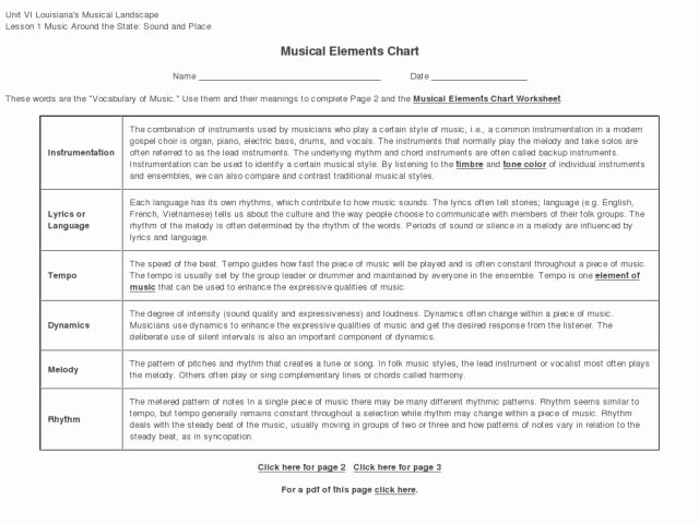 Elements Of Music Worksheet Best Of Elements Music Worksheet S Leafsea