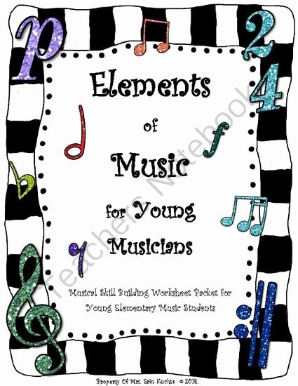 Elements Of Music Worksheet Fresh Elements Music for Young Elementary Musicians Activity