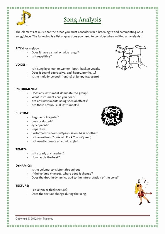Elements Of Music Worksheet Fresh Word Doc Educational Programs and Logs On Pinterest