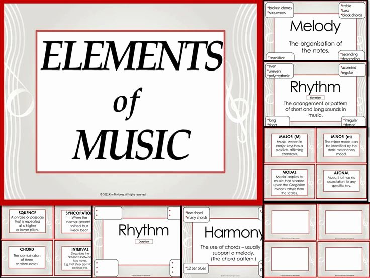 Elements Of Music Worksheet Inspirational Elements Of Music Anchor Charts and Worksheets