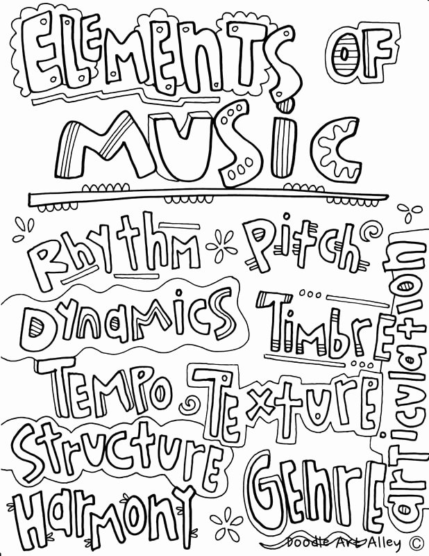 Elements Of Music Worksheet Inspirational Musical Elements Classroom Doodles