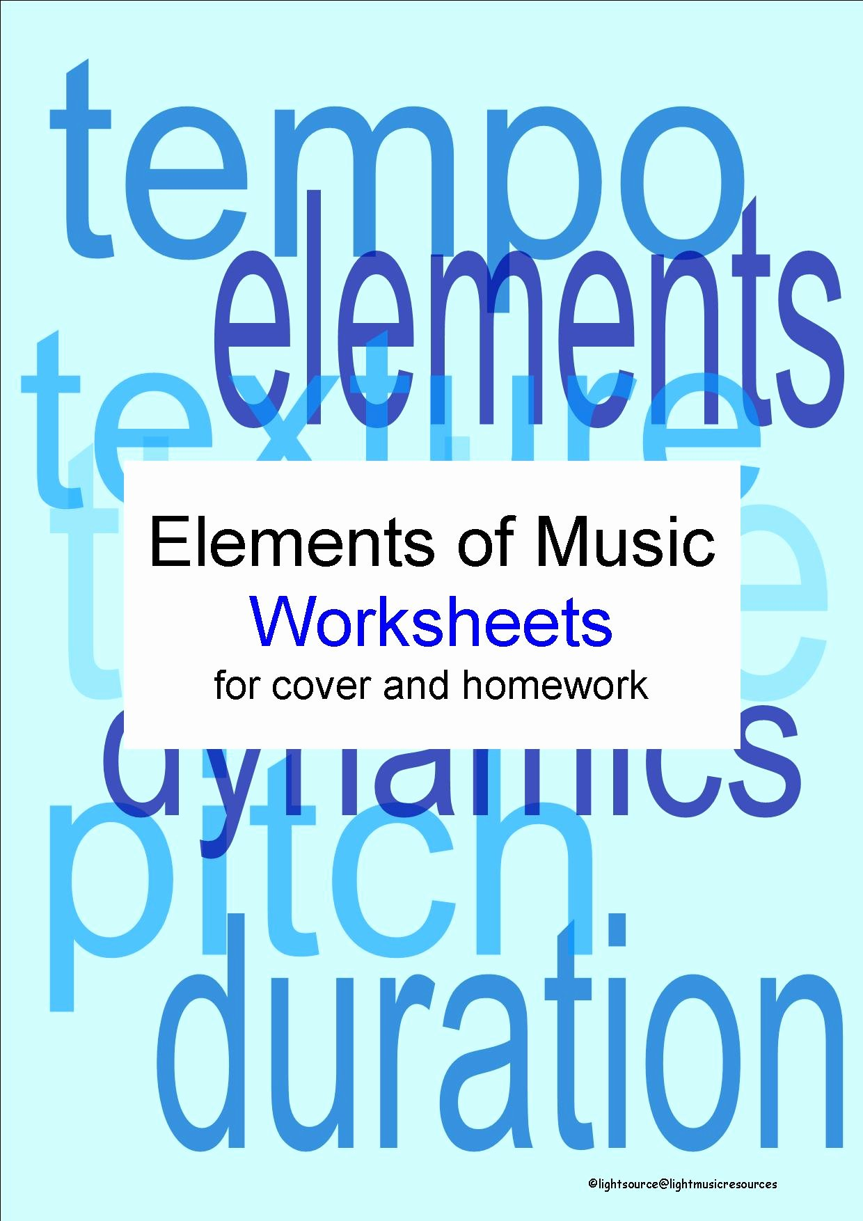 Elements Of Music Worksheet New the Elements Of Music 1 Factsheet and 2 Worksheets by