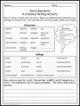 Elements Of Plot Worksheet Fresh Story Elements Graphic organizers Worksheets and