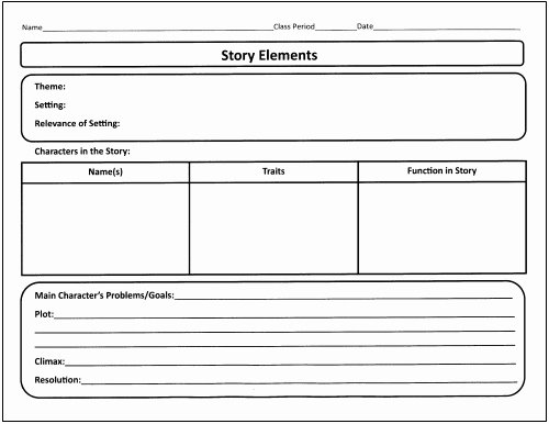 Elements Of Plot Worksheet Unique 25 Language Arts Graphic organizers for You and Your Kids