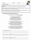 Search elements of poetry worksheet