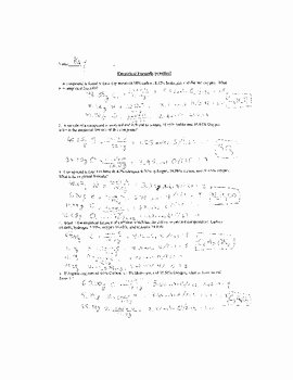 Empirical and Molecular formulas Worksheet Lovely Empirical formulas Practice Worksheet by Mj