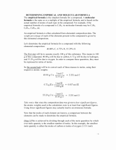Empirical and Molecular formulas Worksheet Luxury Empirical & Molecular formulas Worksheet Key