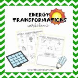 Energy Transformation Worksheet Answer Key Beautiful Energy Transformation Worksheet Teaching Resources