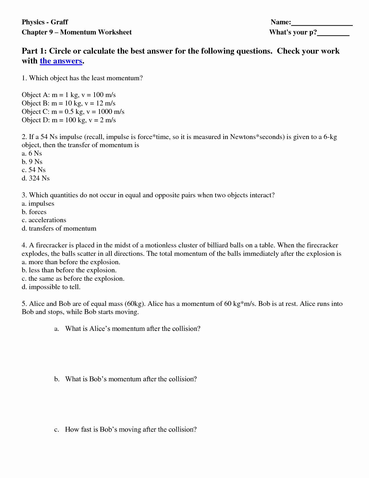 Energy Transformation Worksheet Answer Key Fresh 13 Best Of Energy Worksheets Middle School Energy