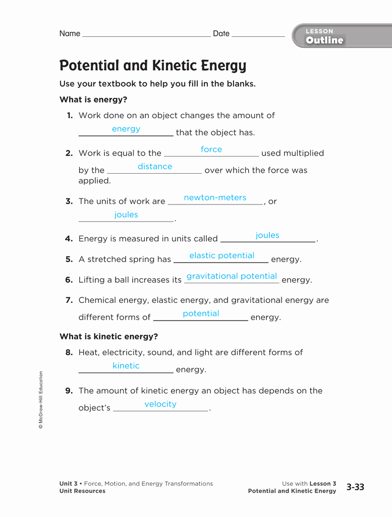 Energy Transformation Worksheet Answer Key New Worksheet Energy Transformation Worksheet Answers Grass