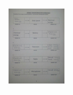 Energy Transformation Worksheet Answers Elegant Energy Transformation Worksheet with Answer by