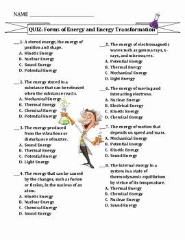 Energy Transformation Worksheet Middle School Beautiful Energy Transfer Worksheets Middle School Heat Transfer