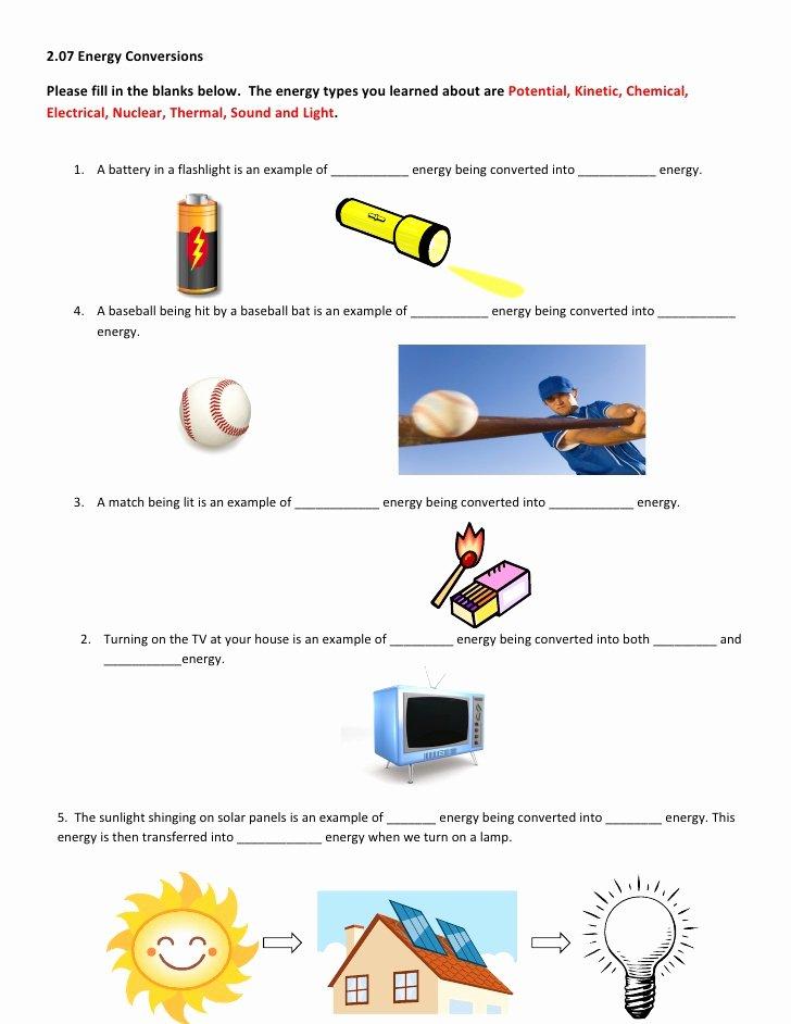 Energy Transformation Worksheet Middle School Elegant 2 07 Help Worksheet