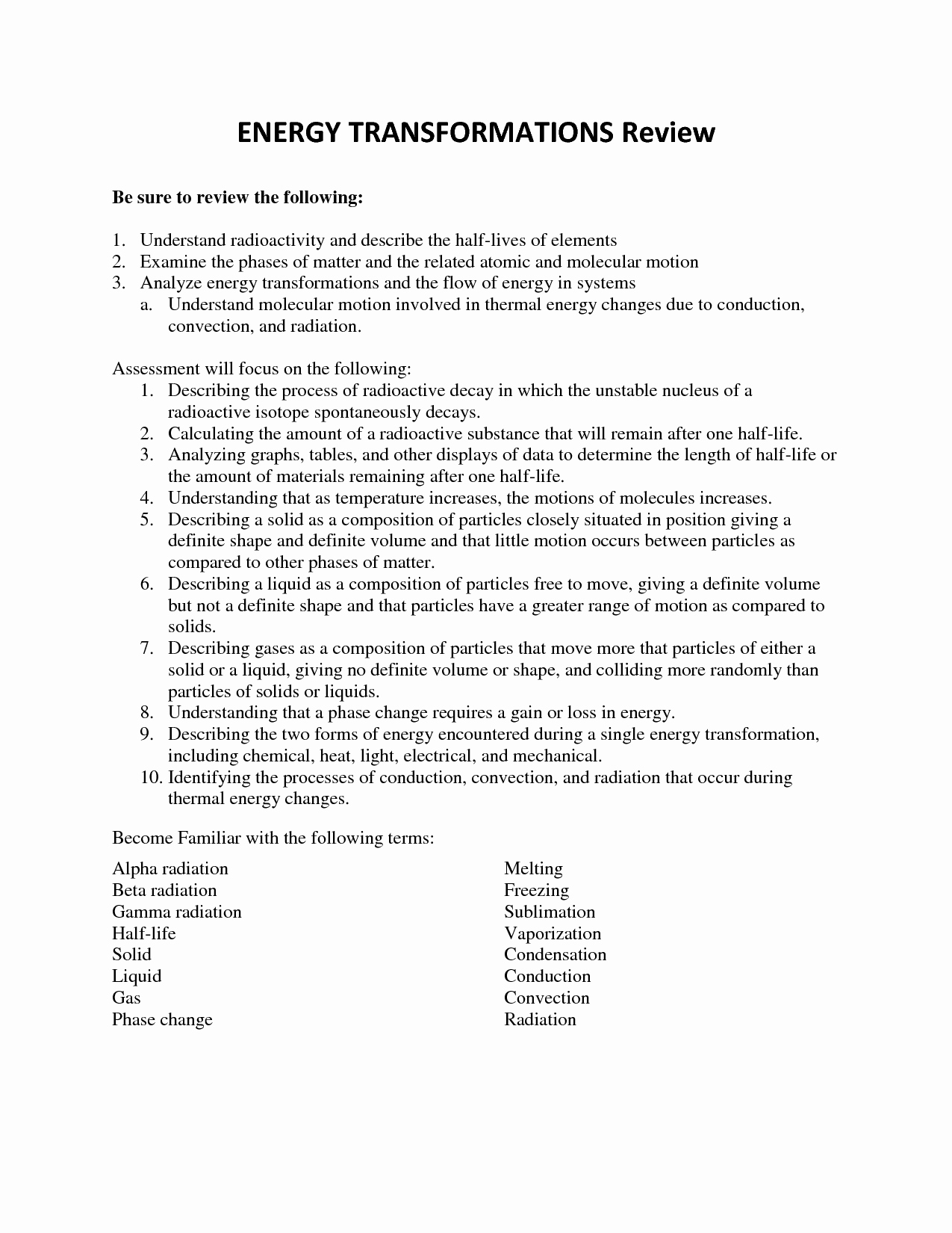 Energy Transformation Worksheet Pdf Fresh 15 Best Of Transformation Worksheets Middle School
