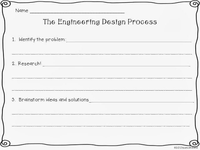 Engineering Design Process Worksheet Awesome 54 Engineering Design Process Worksheet Engineering