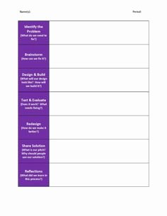 Engineering Design Process Worksheet Awesome Here S A Nice Graphic organizer for Students On the