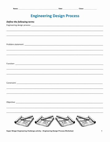 Engineering Design Process Worksheet Best Of 180 Free Magazines From Teachengineering org