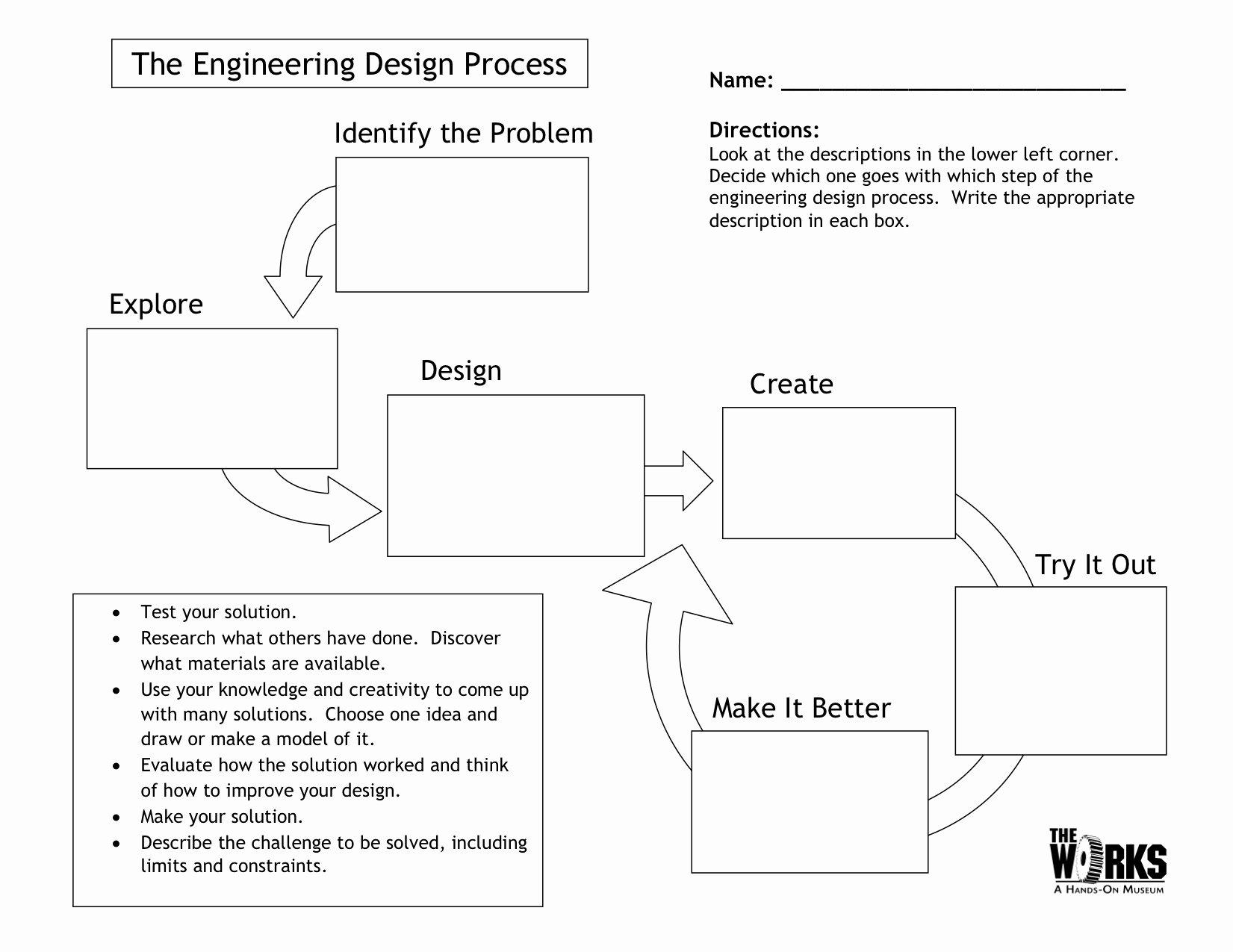 Engineering Design Process Worksheet New Egfi – for Teachers Lesson the Engineering Design Process