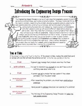 Engineering Design Process Worksheet New Introducing the Engineering Design Process Worksheet by