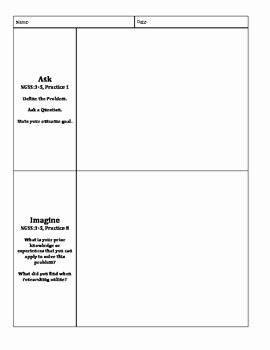 Engineering Design Process Worksheet New Stem Engineering Design Process Recording Sheet by