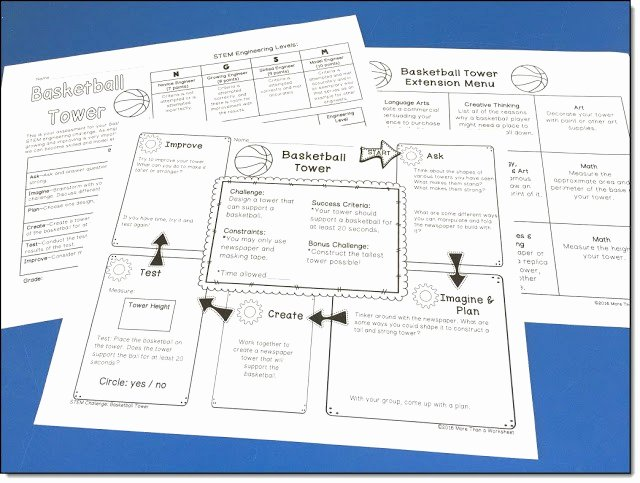 Engineering Design Process Worksheet New Stem Engineering Will Building A tower with Newspaper