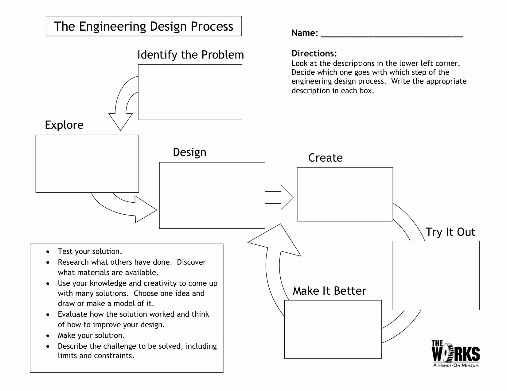 Engineering Design Process Worksheet Pdf Lovely Egfi – for Teachers Lesson the Engineering Design Process