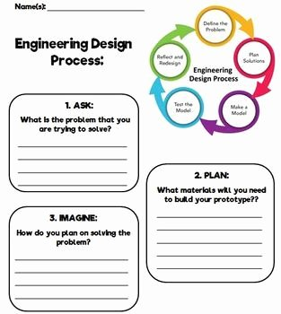 Engineering Design Process Worksheet Pdf Luxury Engineering Design Process Template by From Miss Mcmullen