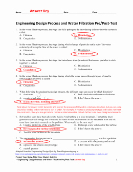 Engineering Design Process Worksheet Pdf New Engineering Design Process Pre Test – Answer Key