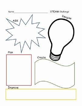 Engineering Design Process Worksheet Unique Steam Engineering Design Process Worksheet by the