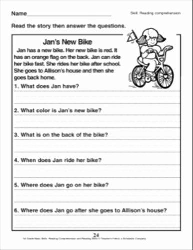 English Worksheet for Grade 2 Best Of English Prehension Worksheet for Kindergarten and Grade