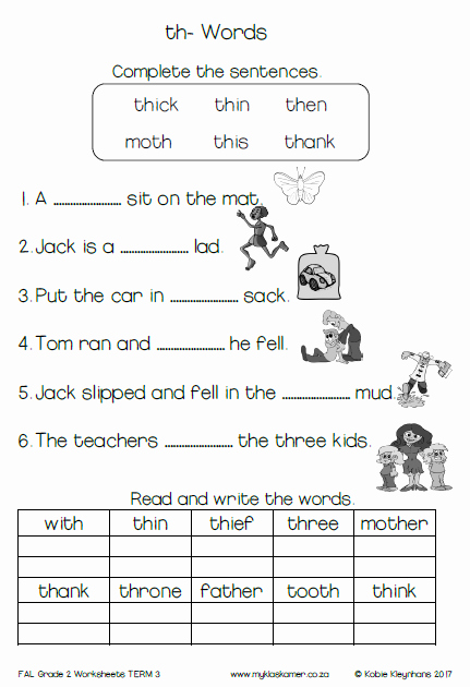 English Worksheet for Grade 2 Best Of Grade 2 English First Additional Language Worksheets Term