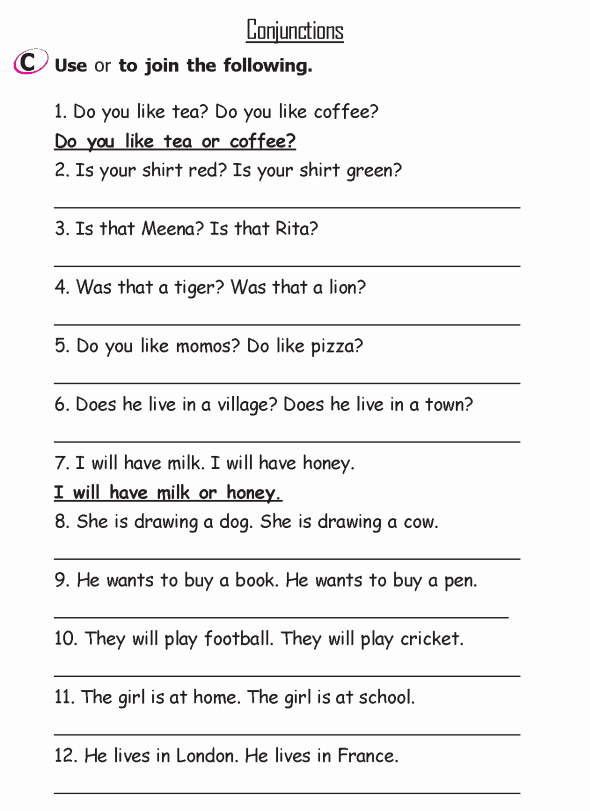 English Worksheet for Grade 2 Lovely Grade 2 Grammar Lesson 15 Conjunctions 3