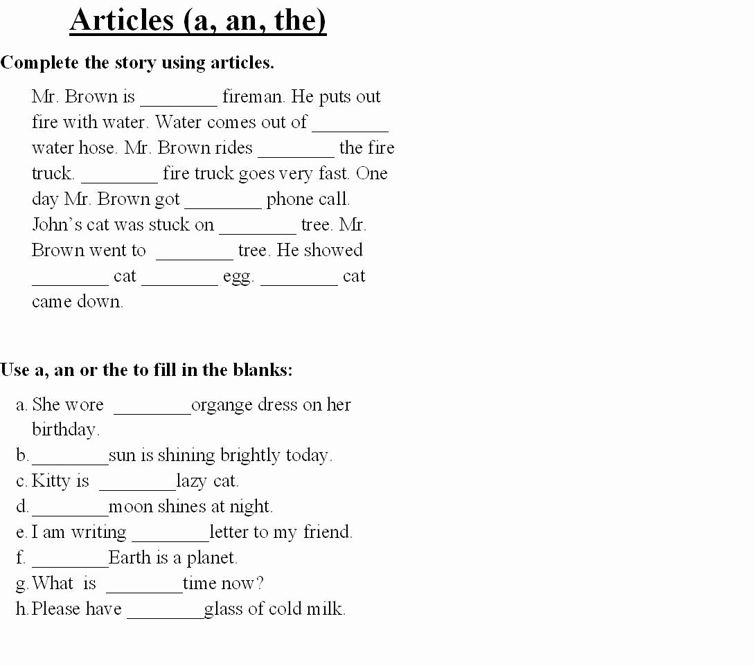 English Worksheet for Grade 2 New English Worksheet Category Page 1 Worksheeto