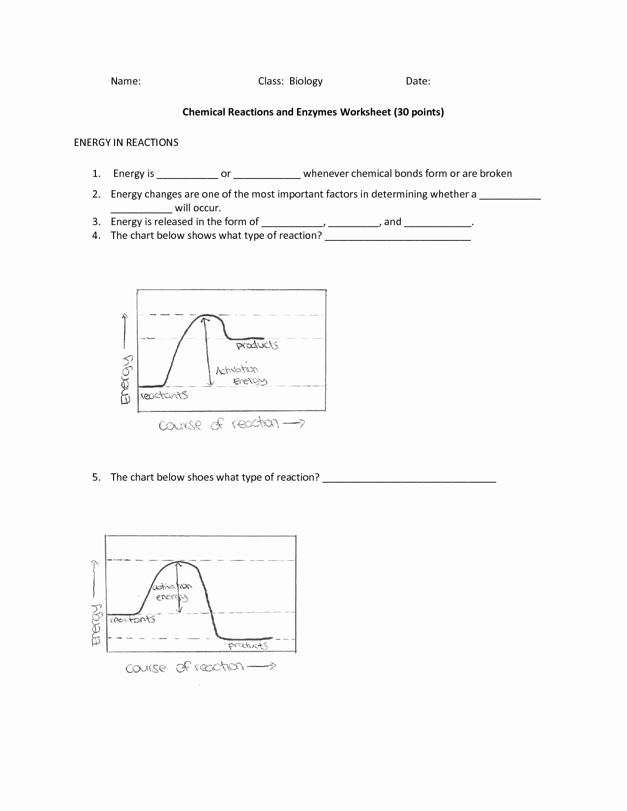 Enzyme Reactions Worksheet Answers Awesome 20 Best Of Enzymes and Chemical Reactions Worksheet