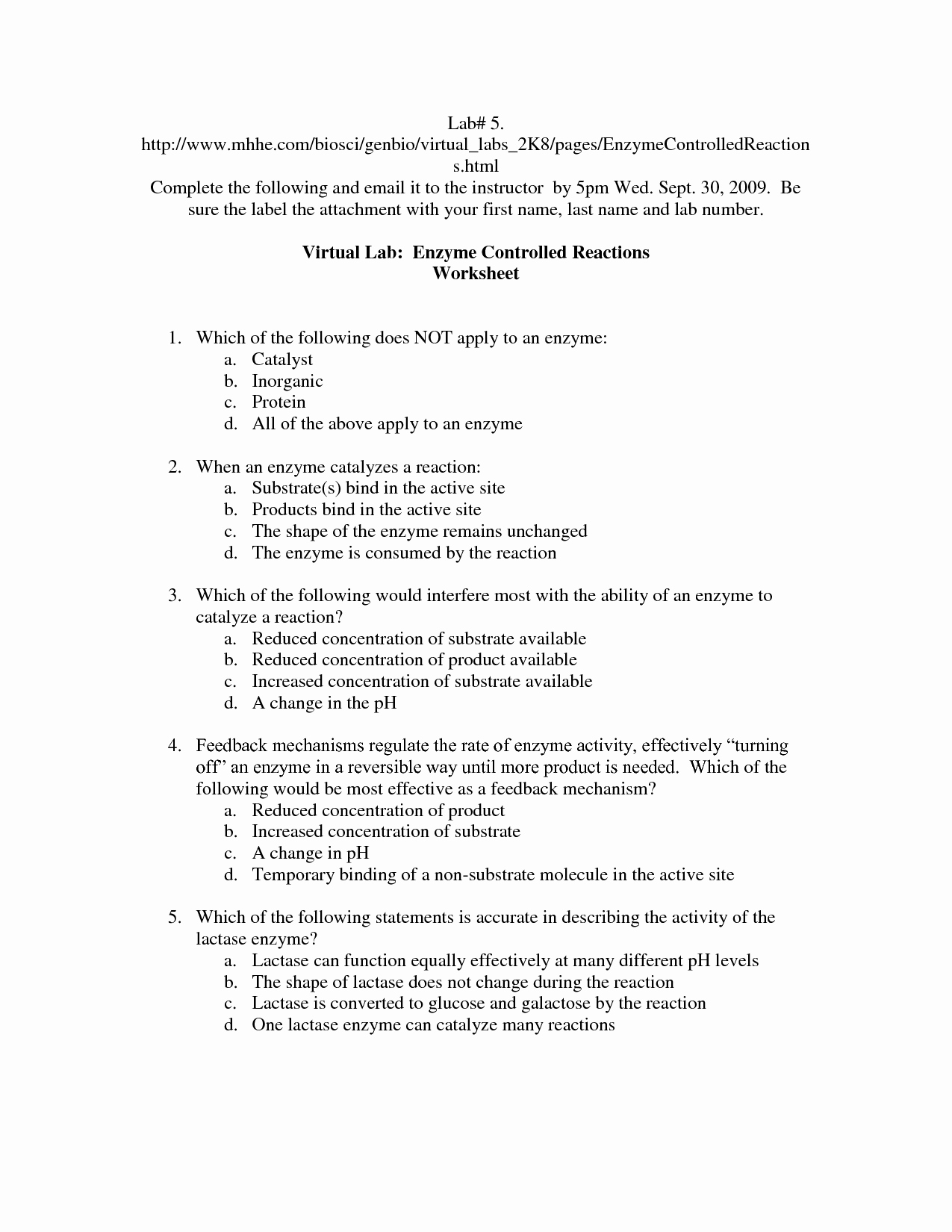 Enzyme Reactions Worksheet Answers New 14 Best Of Enzymes Worksheet Answer Key Enzymes
