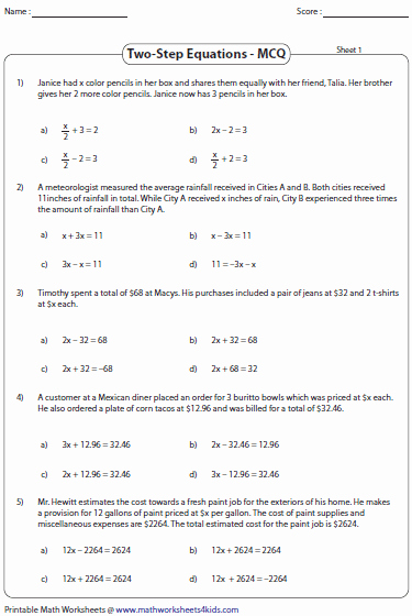 Equation Word Problems Worksheet Beautiful Equation Word Problems Worksheets