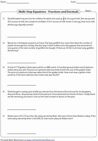 Equation Word Problems Worksheet Inspirational Equation Word Problems Worksheets