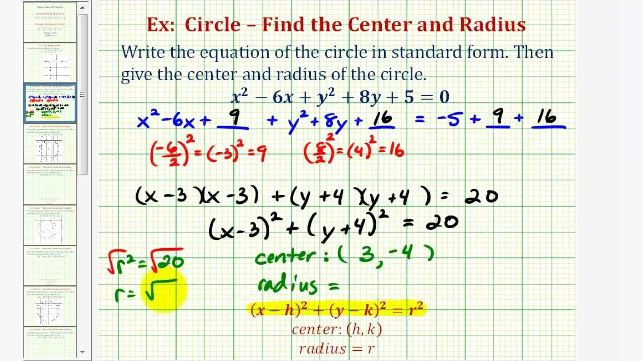 Equations Of Circles Worksheet Beautiful Ex 1 Write General Equation Of A Circle In Standard form
