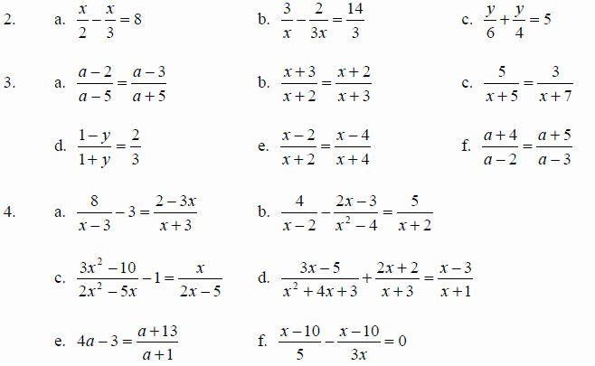 Equations with Fractions Worksheet Awesome Rational Expressions and their Simplification