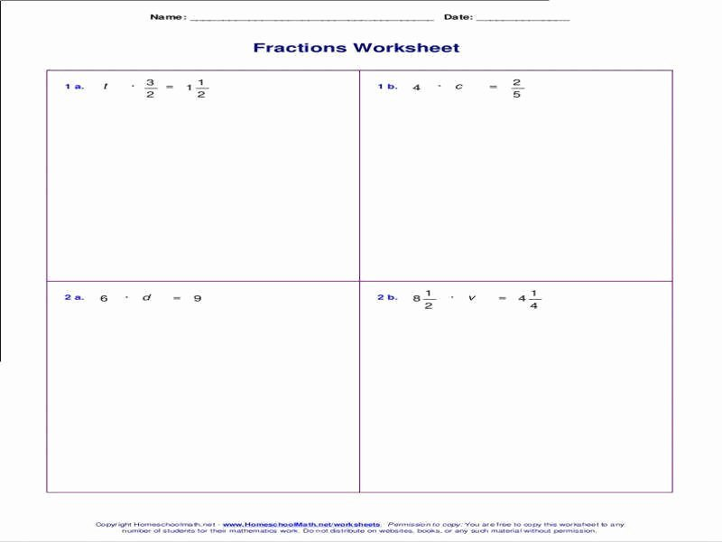 Equations with Fractions Worksheet Elegant solving Two Step Equations Worksheet