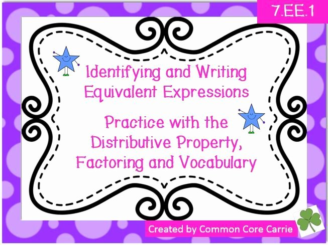 Equivalent Expressions Worksheet 6th Grade Beautiful Equivalent Expressions Practice Worksheets