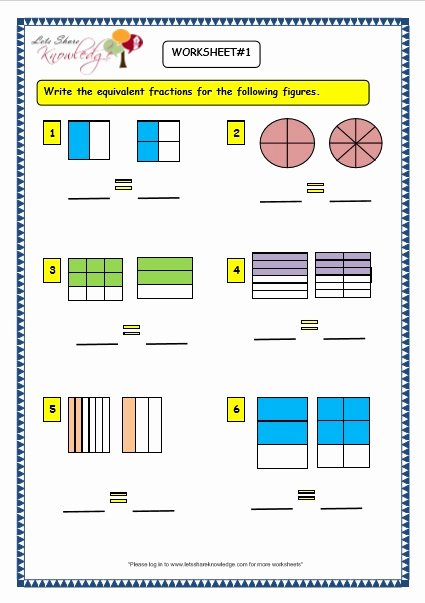 Equivalent Fractions Worksheet Pdf Best Of Grade 3 Maths Worksheets 7 5 Equivalent Fractions