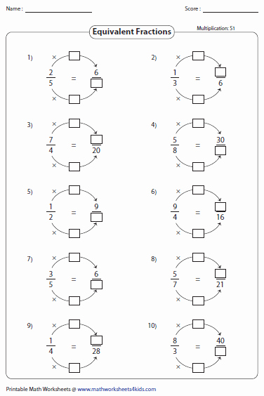 Equivalent Fractions Worksheet Pdf Elegant Equivalent Fraction Worksheets
